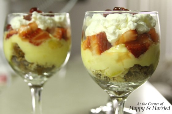 Easy Trifle in a Wineglass 1