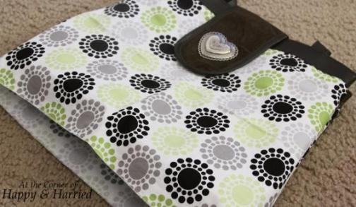 Handbag Makeover With Fabric 3