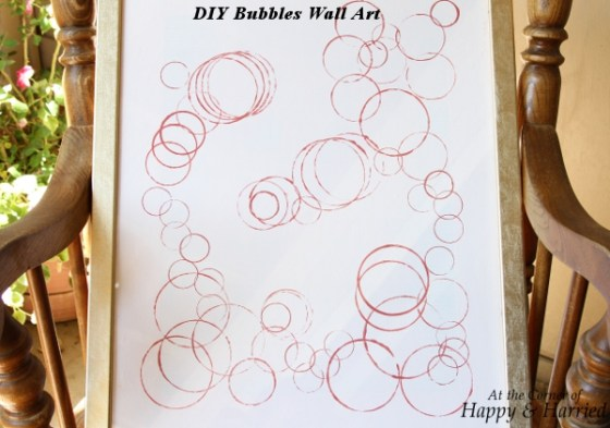 DIY Bubbles Wall Art 2