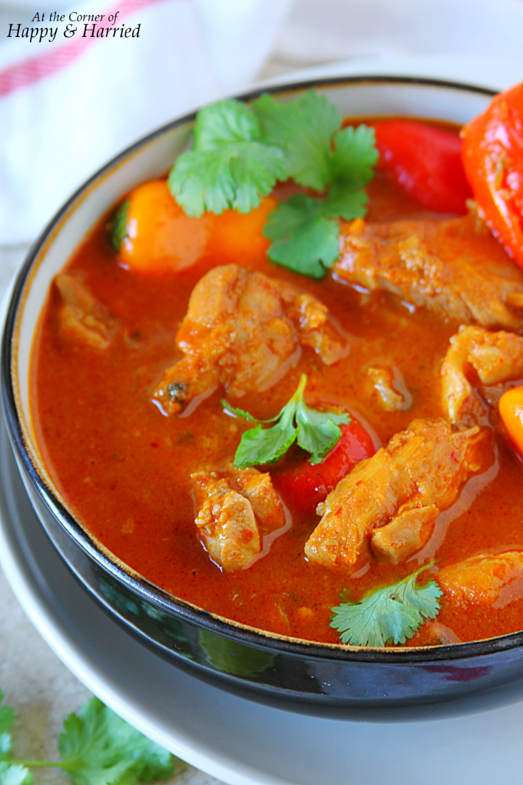 Thai Red Chicken Curry (With Homemade Red Curry Paste)
