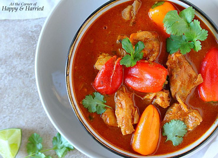 Thai Red Chicken Curry With Peppers