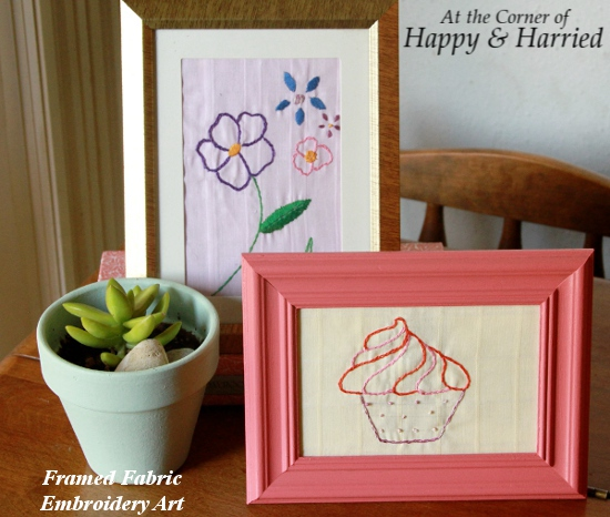 Framed Embroidery Art Vignette
