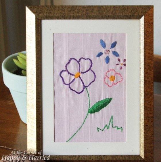 Framed Embroidery Art
