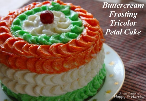 Buttercream Frosting Tricolor Petal Cake