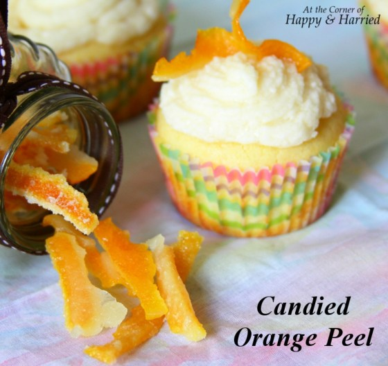 Candied Orange Peel for Cupcake Decoration