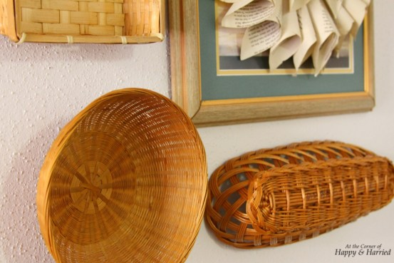 Close-up of Basket Wall Hanging