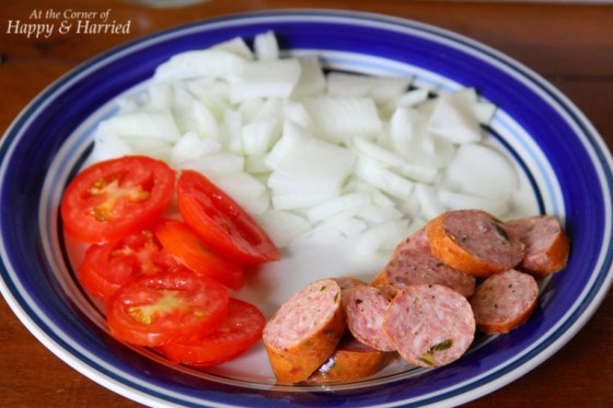 Sausage, Tomato and Onion