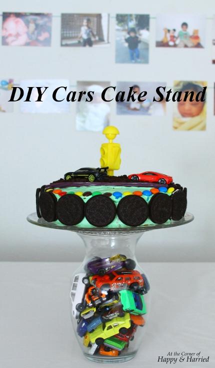 DIY Cars Cake Stand