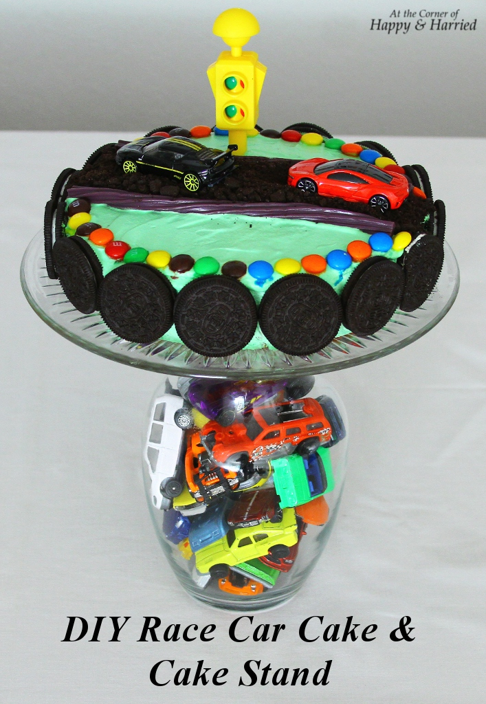 Birthday Cake Photos Racing Car : Race Car Themed Birthday Cake & Cake Stand