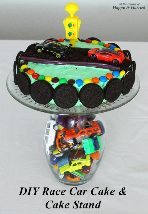 Fabulous Race Car Themed Birthday Cake Cake Stand Funny Birthday Cards Online Elaedamsfinfo