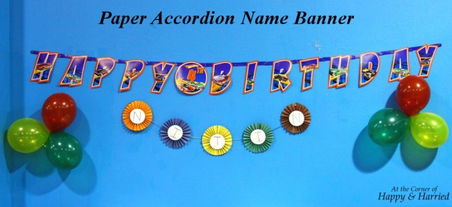 Paper Accordion Birthday Name Banner