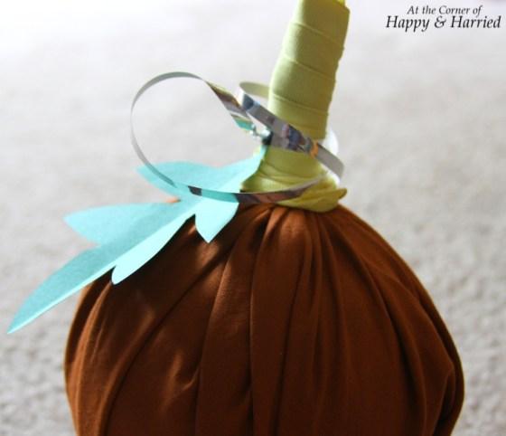 DIY Fabric Covered Ball Pumpkin