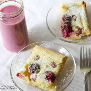 Rustic Grape, Blackberry, Ricotta Tart & A Smoothie