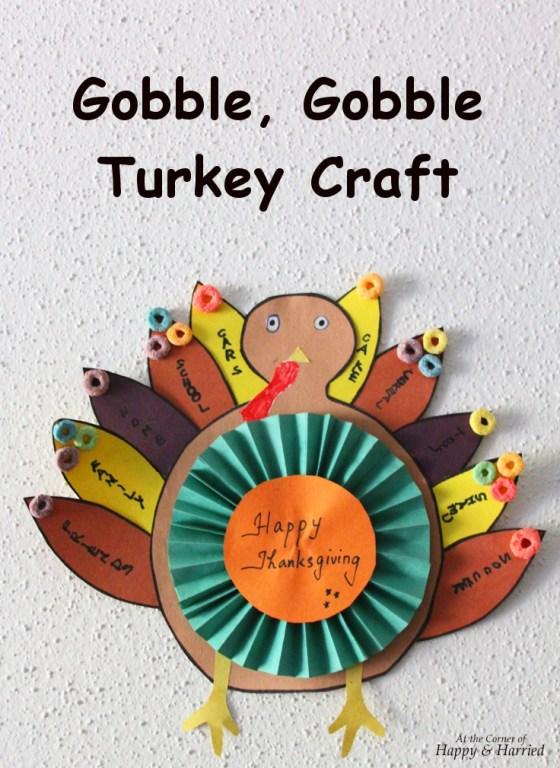 Gobble, Gobble Turkey Craft