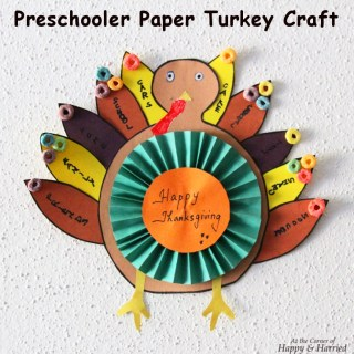 Preschooler Thanksgiving Turkey Craft