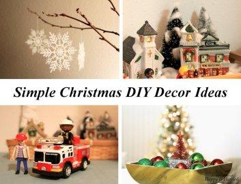 Simple Christmas DIY Decor Ideas