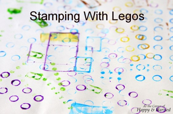 Stamping With Legos - Kids DIY Craft