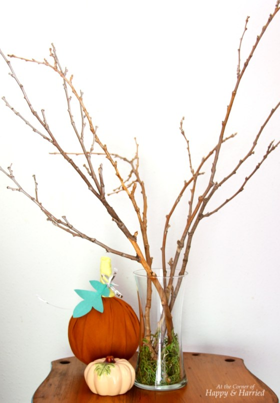 Twig arrangement for Thanksgiving Tree