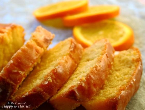 A Sunny Orange Pound Cake With Orange Syrup & Glaze