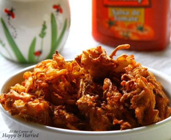 Cabbage & Onion Fritters or Pakoda
