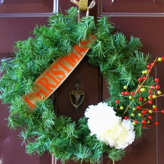 How To *Embellish A {Faux} Evergreen Christmas Wreath*