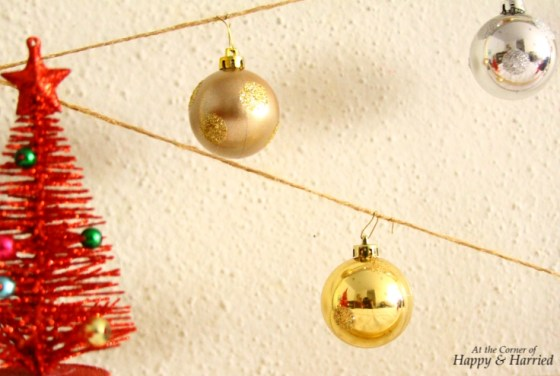 Hang Baubles In Picture Frame