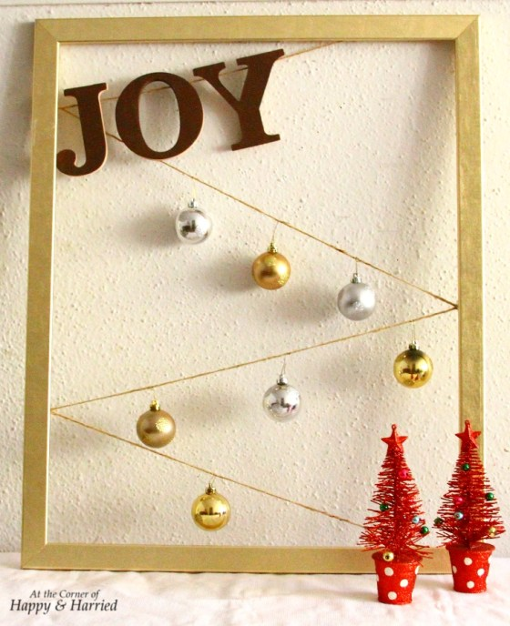 JOY Letters & Baubles Christmas Frame