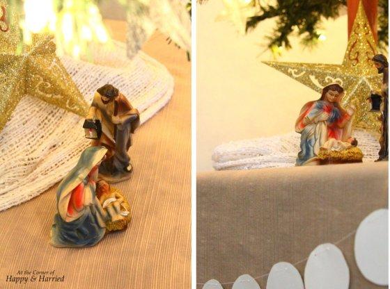 Nativity Scene & Christmas Tree