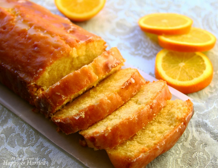 Orange Pound Cake With Orange Syrup & Glaze