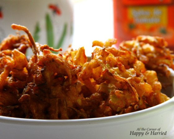 Tea Time Snack - Cabbage & Onion Fritters or Pakoda