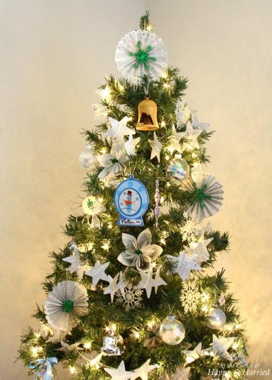 White, Silver & Handmade Ornaments Christmas Tree