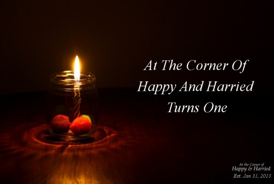 At The Corner Of Happy And Harried Turns One