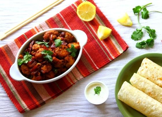 Chilli Mushroom and soft tacos - easy dinner