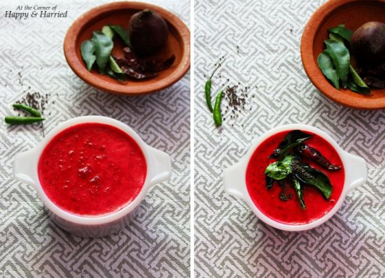 Beetroot Pachadi - Beetroot In Mild Coconut-Yogurt Gravy