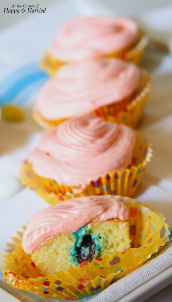 Candy Surprise Easter Cupcakes