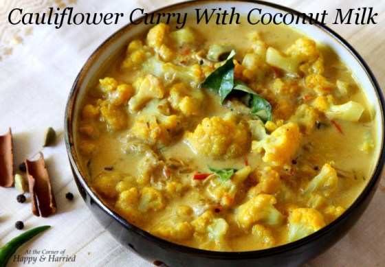 Cauliflower Curry With Coconut Milk & Delicate Spices