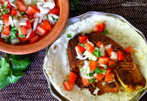Herb Crusted Fish Tacos and Salsa