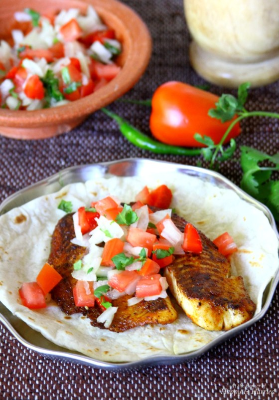 Herb Crusted Fish Tacos With Salsa