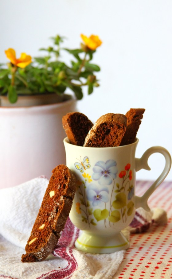 Chocolate Biscotti With Cocoa Powder