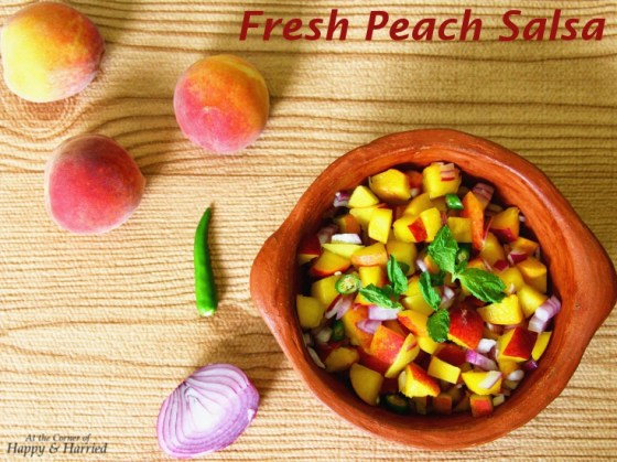 Fresh Peach,Red Onion & Mint Salsa