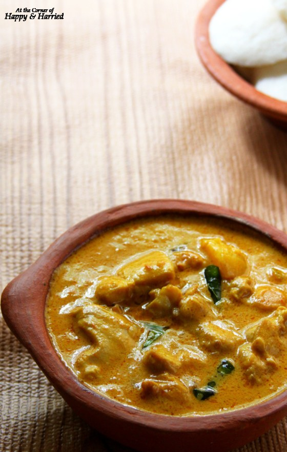Mild Chicken Curry With Coconut Milk & Served With Soft Idlis