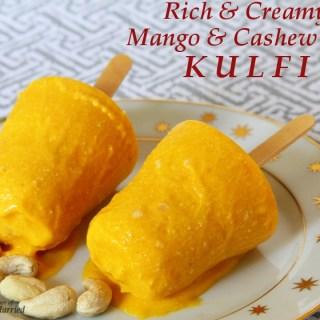 Mango And Cashew Nut Kulfi (Indian Frozen Milk Dessert)