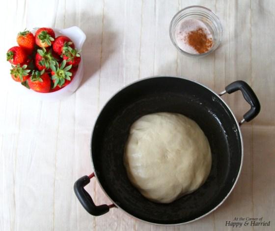 Strawberry Focaccia Bread Dough