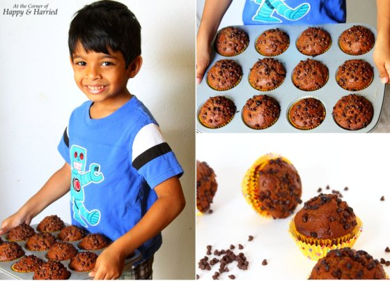 Baking Chocolate Muffins With Kids