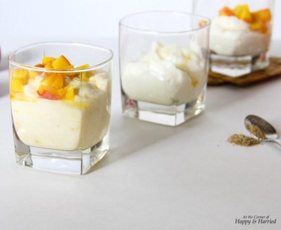 Cardamom & Peach Flavored Shrikhand Cups (Sweetened Hung Yogurt)