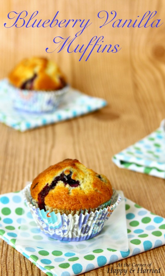 Easy Blueberry Vanilla Muffins