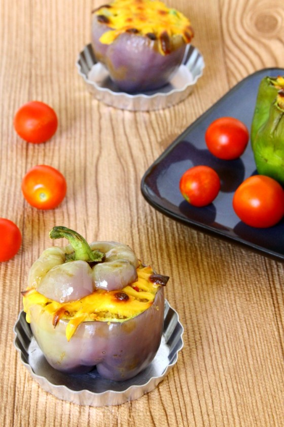 Bell Peppers Stuffed With Bulgur Wheat Vegetable Pilaf