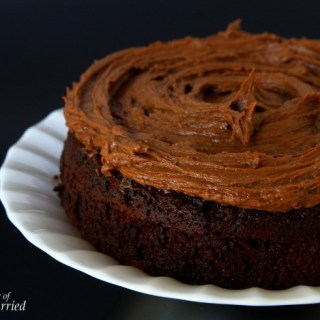 Naked Chocolate Cake With Chocolate Buttercream Frosting {And A Coffee Surprise}