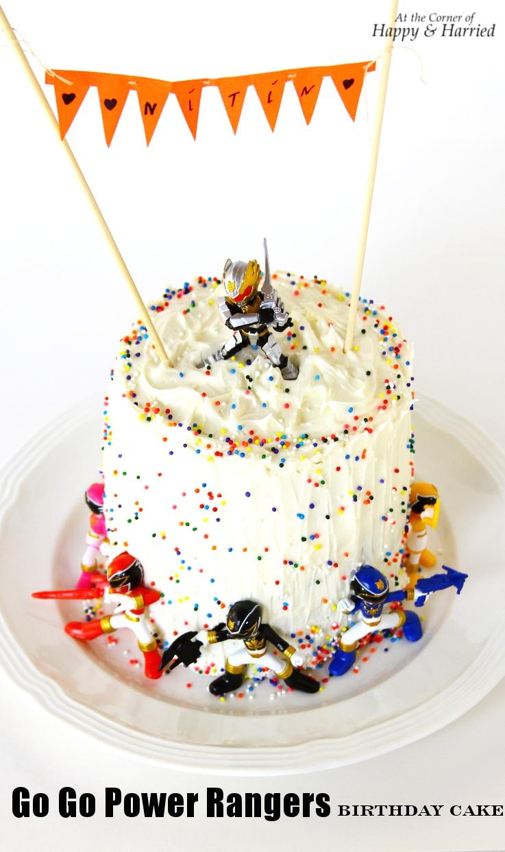 Boys Power Rangers Birthday Cake