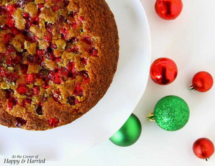 Cranberry-Lime Vanilla Cake